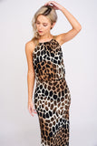 A2407 Safari Print Maxi Dress