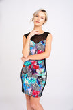 A2451 Tropical Floral Bodycon Dress