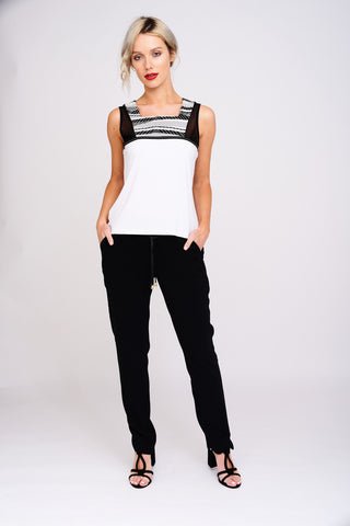 2482 Black & White Top
