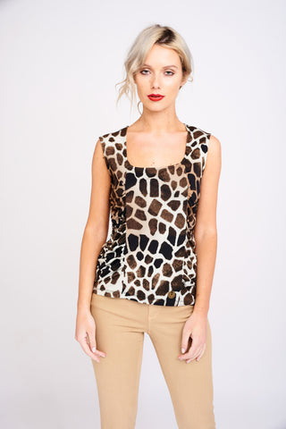 AD 2409 Animal Print Top