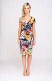 A2413 Printed Wrap Dress