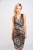 A2408 Safari Print Dress