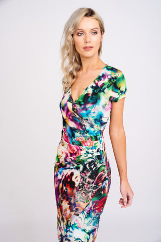 1 2464 Slinky Viscose Wrap Dress