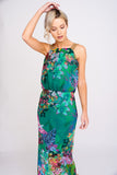 2460 Tropical Print Maxi Dress