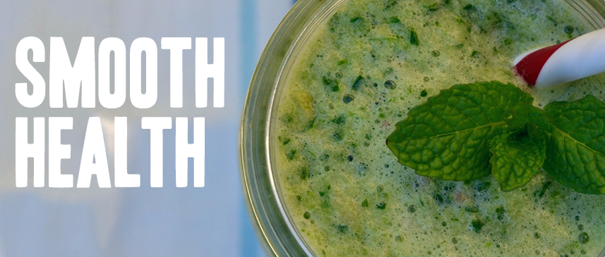 Smoothie Health. Green and minty