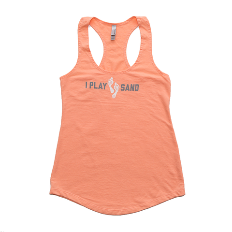 I Play in the Sand Volleyball Racerback Tank
