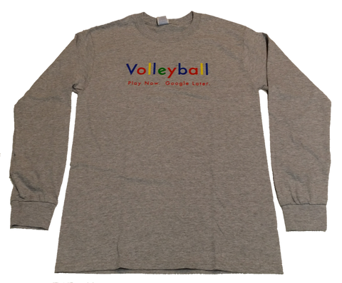 Googlicious Volleyball Long Sleeve Tee Shirt