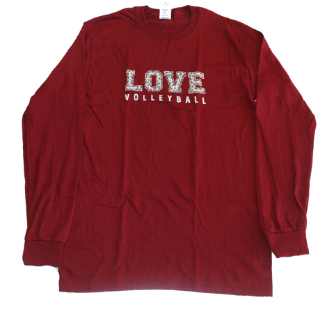 Jungle Love Volleyball Long Sleeve Tee Shirt