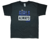 Girls Always Win Short Sleeve Volleyball T-Shirt