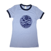 Octane Surfer Shirt Ringer Tee Small Heather Navy