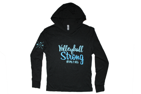 Volleyball Strong Hooded Long Sleeve T-Shirt