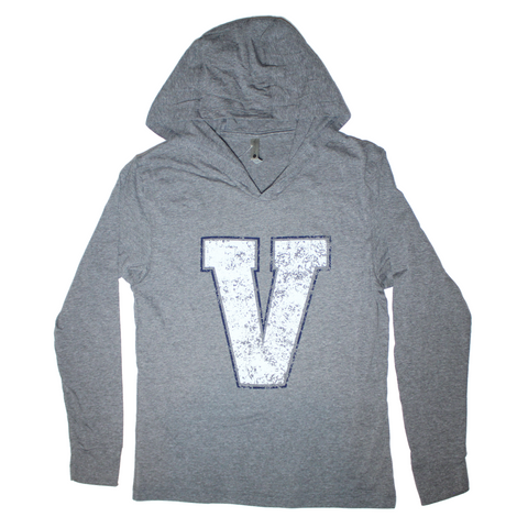 Butler Varsity Hooded Long Sleeve Shirt Grey