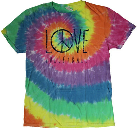 Pastel Peace Tie Dye Short Sleeve T-Shirt