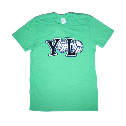 YOLO Short Sleeve Heather Irish Green