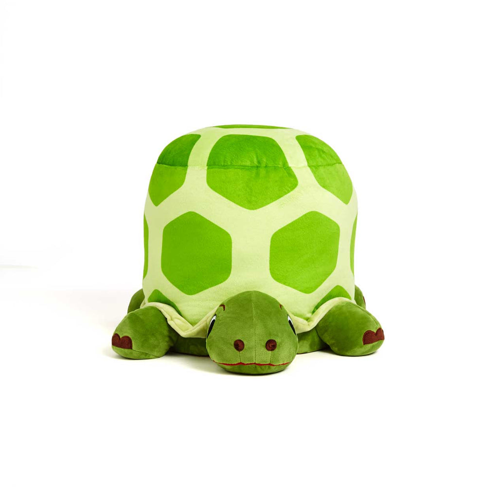 Plush turtle stool