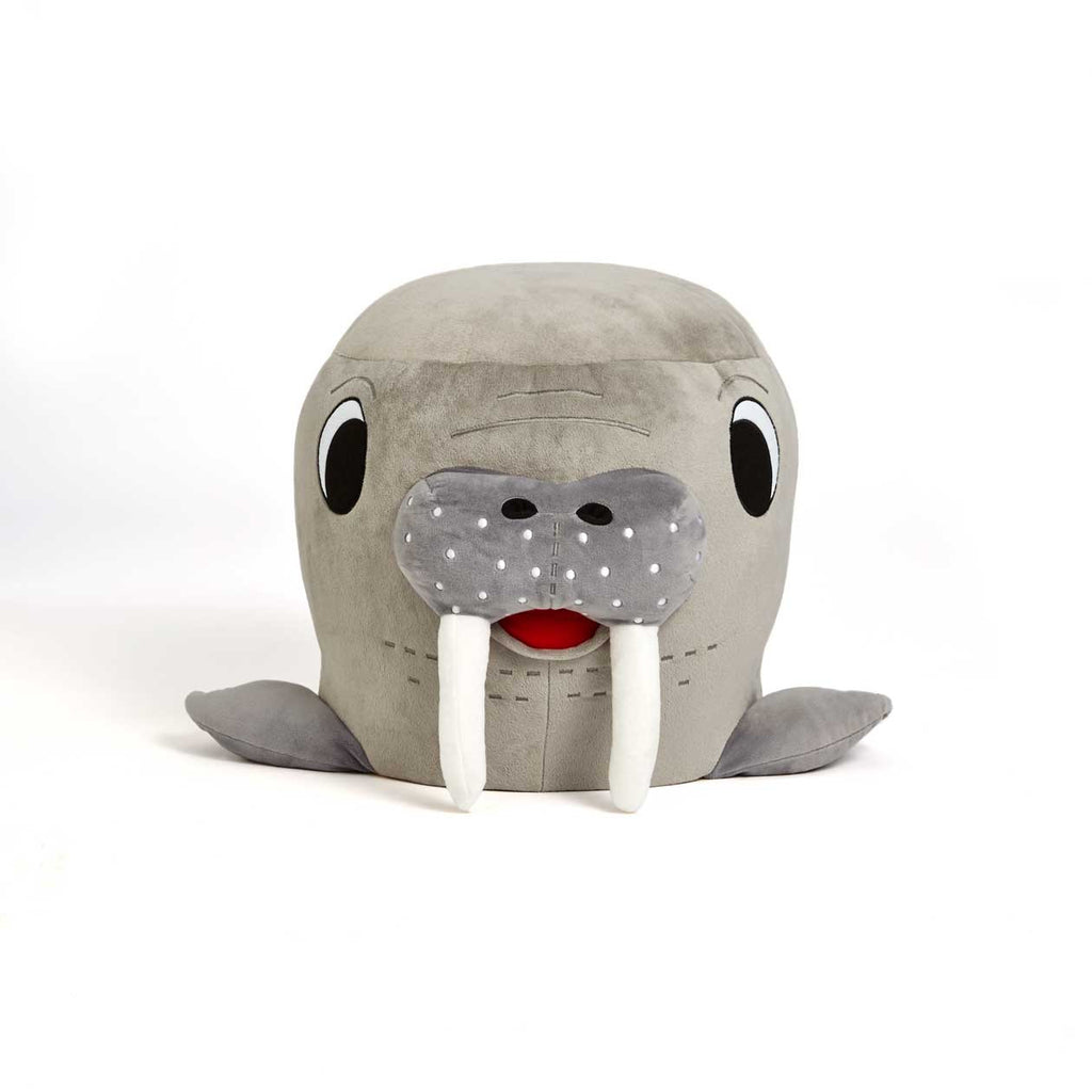 Plush walrus chair from Zuzu
