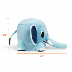 Dimensions of the stuffed elephant chair for kids