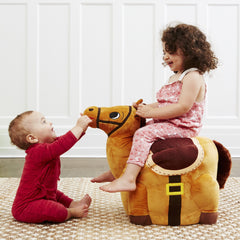 The horse chair is an imaginative toy