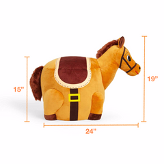 Dimensions of the stuffed horse stool