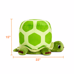Dimensions of the plush turtle stool