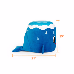 Dimensions of the plush whale chair