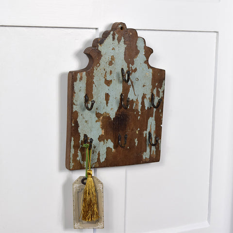 Distressed Key Hook Panel.