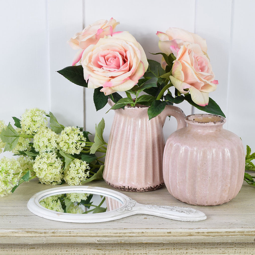 Abigail Ahern Flowers Faux Pale Pink Rose Stems Curated Living