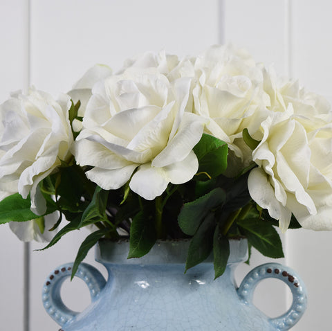 Abigail Ahern Faux Flowers: White Rose Stems