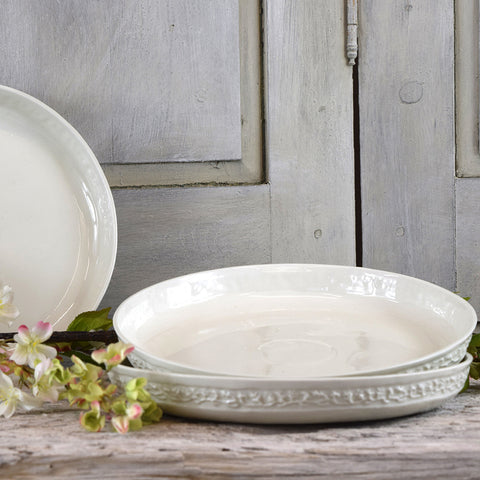 Handmade French Decorative Shallow Ceramic Bowls.