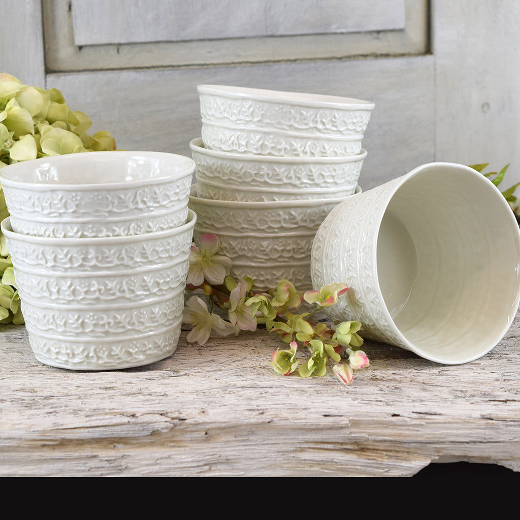 Handmade French Decorative Ceramic Bowl Pot Small Curated Living