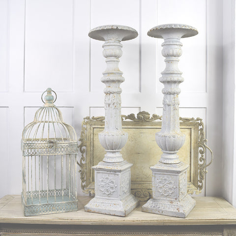 Decorative Antique Metal Candle Sticks