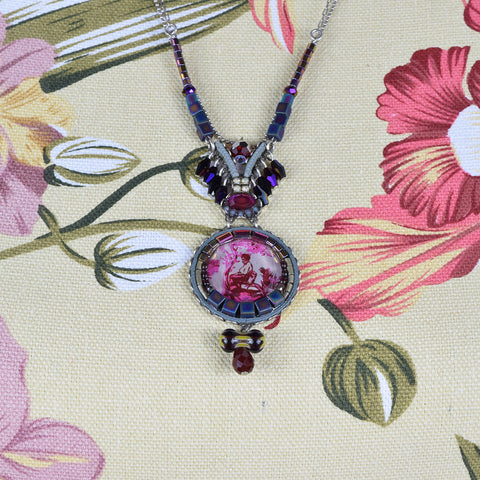 Ayala Bar Purple Bead and Gemstone Necklace.