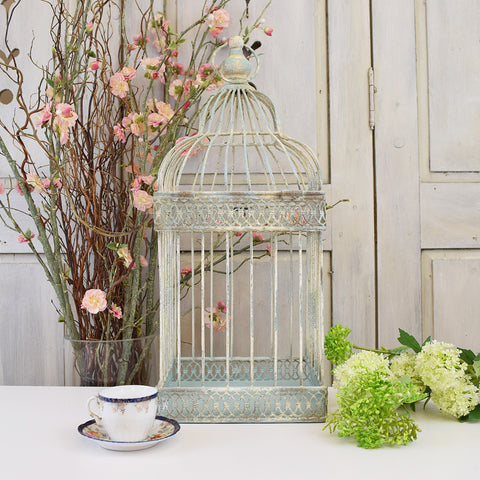 Shabby Chic Effect Bird Cage, Large