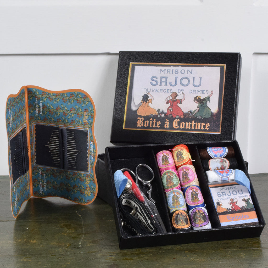 Large vintage style sewing box set