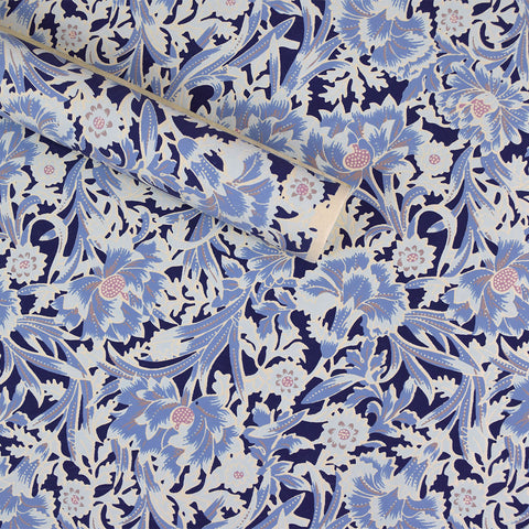 Wrapping Paper. Blue Floral Pattern.