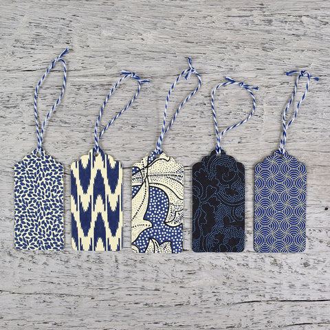 Handmade Gift Tags. Blue.