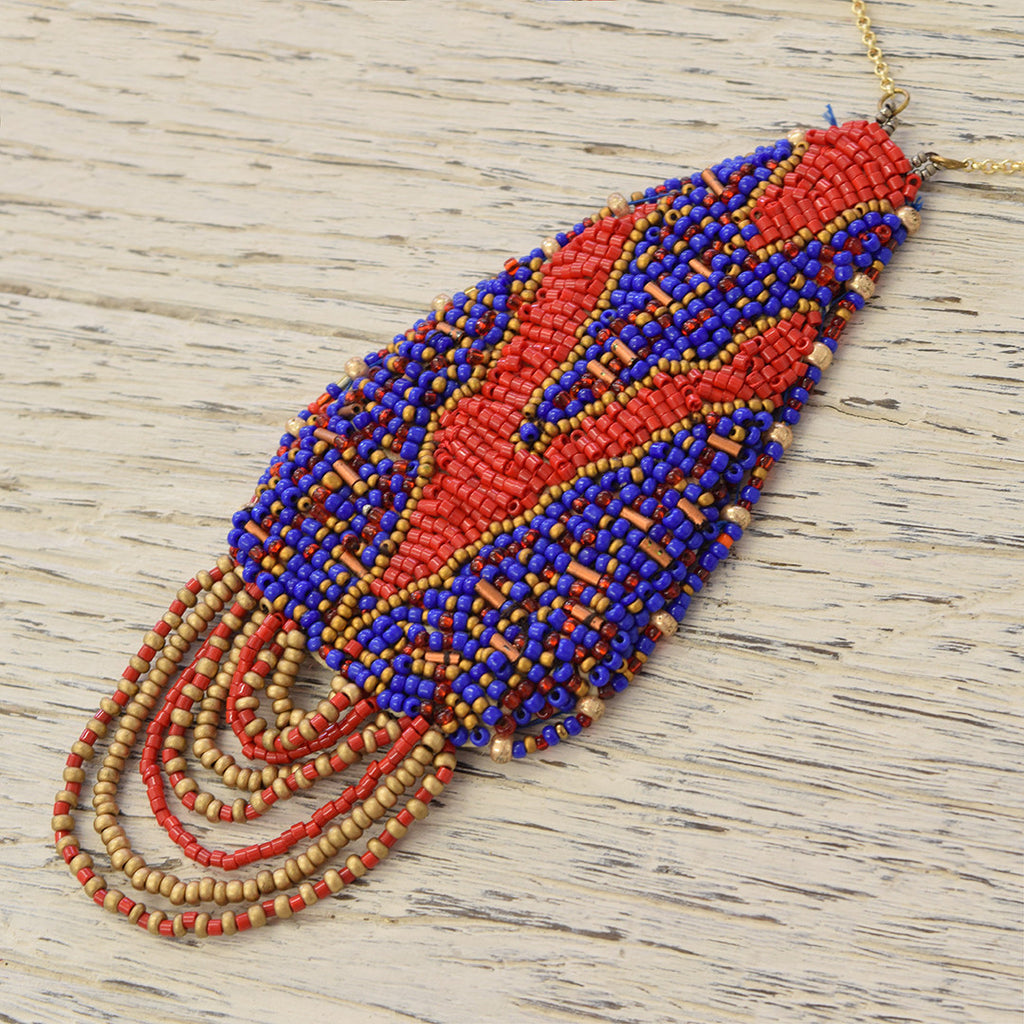 Fairtrade African Beaded Necklace.