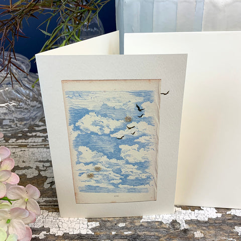 Elena Deshmukh Card, Blue Skies.