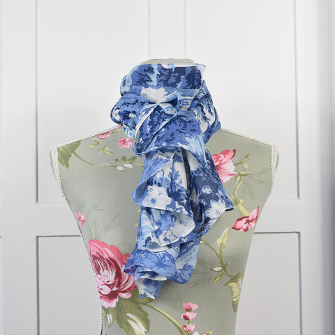 One Hundred Stars Blue China Flower Scarf.