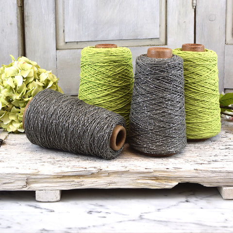 Green cotton cord bobbin