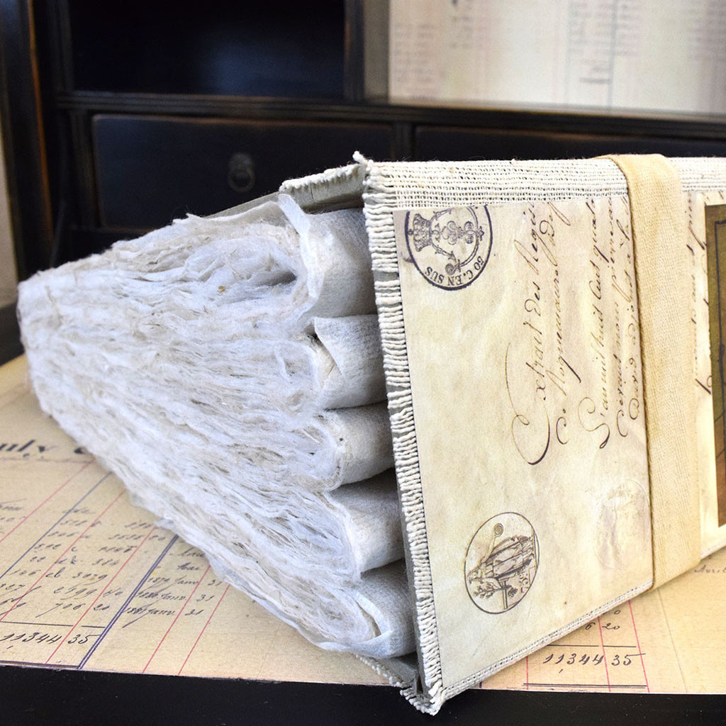 Large French Handmade Bound Book.