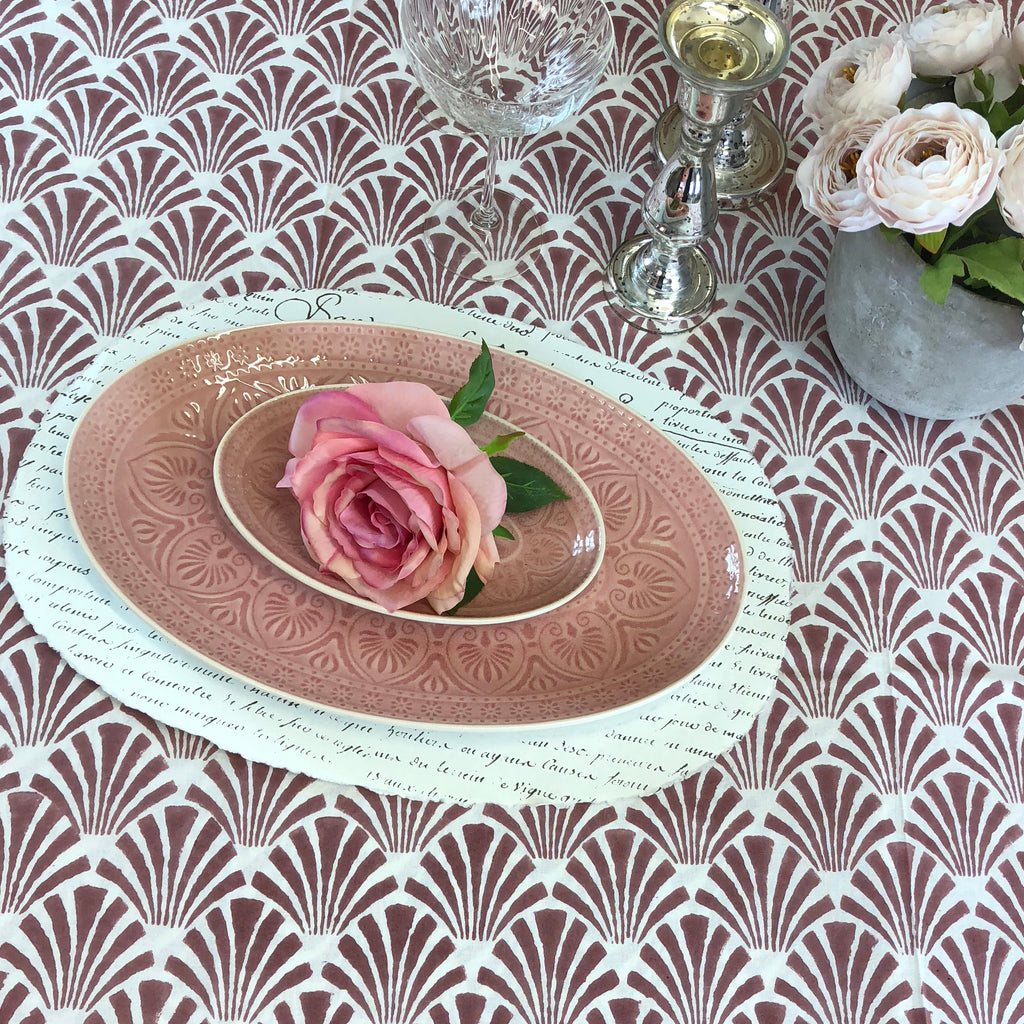 Deco Blush Table Cloth. Large.
