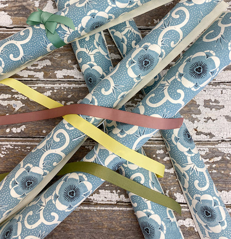 Bungalow Wrapping Paper Blue Flowers