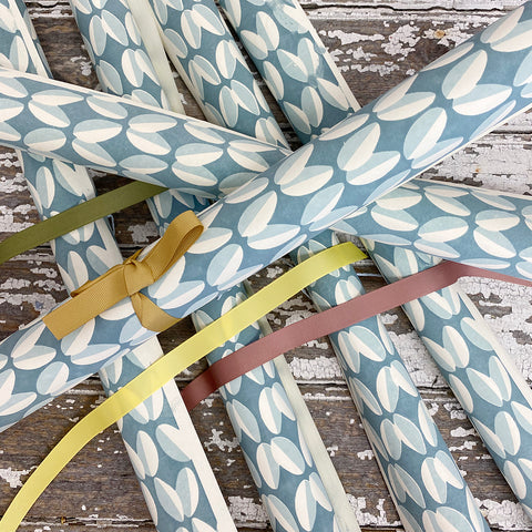 Bungalow Wrapping Paper Blue Ovals