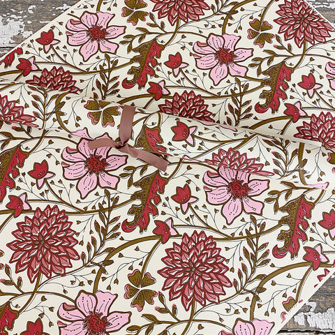 Bungalow Wrapping Paper Pink Matis Flower