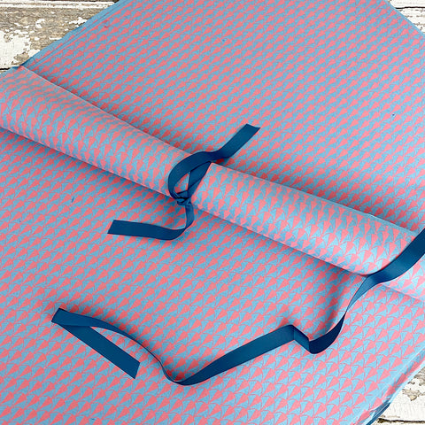Bungalow Wrapping Paper Pink and Blue Matis Geometric