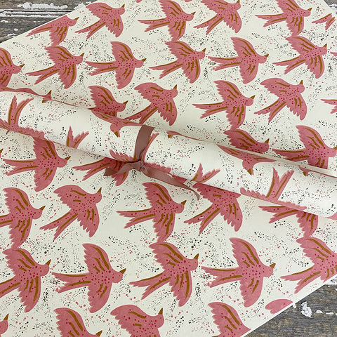 Bungalow Wrapping Paper Pink Matis Doves