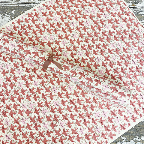 Bungalow Wrapping Paper Pink Matis Small Doves