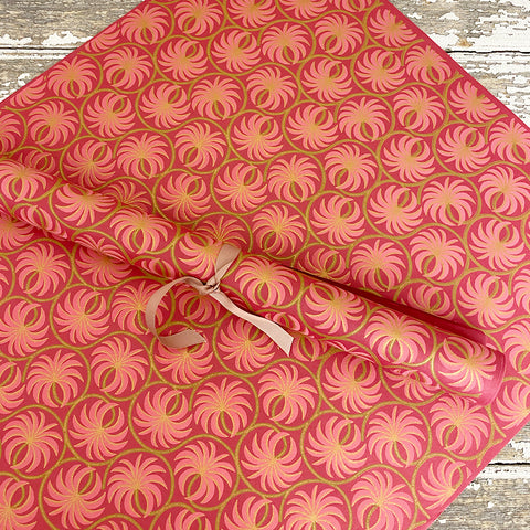 Bungalow Wrapping Paper Pink Matis Palms