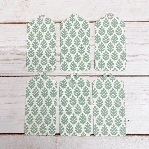Handmade Gift Tags. Pale Green Leaf Green.